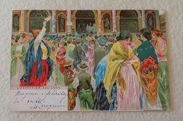 """Cartolina Postale """"Estrazion Del Loto"""" Illustrazione Tafuri Venezia, Viaggiata Per Villanova Monferrato 1906 - Events"""