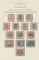 """Page De Collection - émission 1915 : Série Complète (manque N°148) Sur Fragment Avec étude Du Cachet """"St-Adresse"""" - 1915-1920 Albert I."""