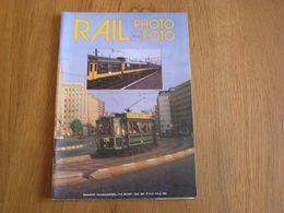 RAIL PHOTO Revue N° 15 Chemins De Fer Tram Train Tramways SNCB NMBS Locomotive Vapeur Gare Autorails Tubize Souris - Railway & Tramway