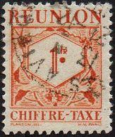 Réunion Obl. N° Taxe 29 - Le 1f Brun-orange - Réunion (1852-1975)