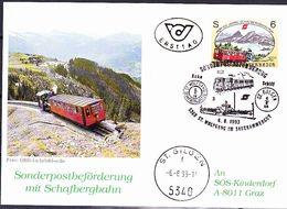 Österreich Austria Autriche - Postbeförferung Mit Schafbergbahn (MiNr: 2104) 1993 - FDC-Karte - FDC
