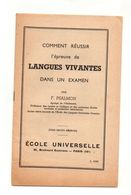 Comment Réussir L'épreuve De Langues Vivantes Dans Un Examen Par F. Psalmon - école Universelle - Bücher, Zeitschriften, Comics