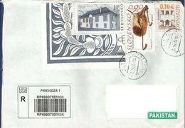 SLOVAKIA POSTAL USED AIRMAIL COVER TO PAKISTAN - Postal Stationery