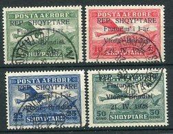 ALBANIA 1928 Vlore-Brindisi Air Route  5 Q.- 50 Q.. Used.  Michel 162-65 - Albanie