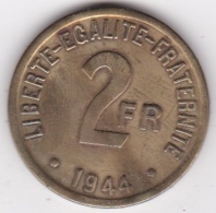France Libre. 2 Francs Philadelphie 1944, Bronze Aluminium. - Algérie