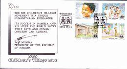 Namibia - SOS-Kinderdörfer (MiNr: 747/50) 1993 - FDC - Namibie (1990- ...)