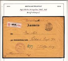 GUERRE  1914/ 1918  DEUTSCHE    FELDPOST   Voir  Csan - Guerre 14-18