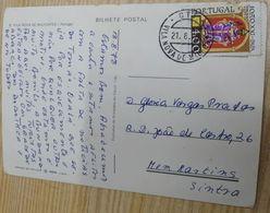 PORTUGAL VILA NOVA DE POIARES CANCEL ON POSTCARD - 1910-... République