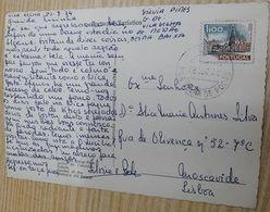 PORTUGAL VILA VELHA DE RODÃO CANCEL ON POSTCARD - 1910-... République