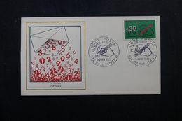 RÉUNION - Enveloppe FDC En 1972 - Code Postal - L 63949 - Storia Postale