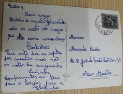 """PORTUGAL """"CUBA - ALENTEJO""""  CANCEL ON POSTCARD - 1910-... République"""