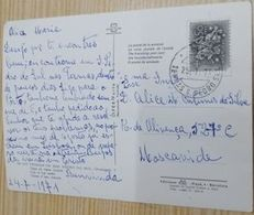 TERMAS S.PEDRO DO SUL  CANCEL ON POSTCARD - 1910-... République