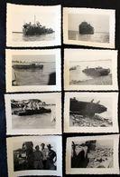 8 Photos Débarquement De Barges En Indochine - Bateaux