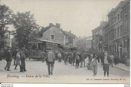 SERAING ..-- TRAM . Entrée De La Ville . 1905 Vers BORGERHOUT . Voir Verso . - Seraing