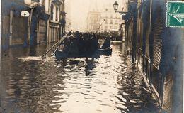 """BESANCON - Carte-photo """"Le Bas De La Gde-rue Pendant La Crue Du 21-01-1910. TB état. - Besancon"""