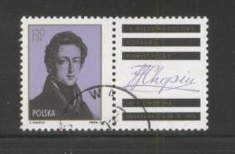 POLAND 1975 9TH INTERNATIONAL CHOPIN PIANO COMPETITION USED WITH LABEL COMPOSERS MUSIC FRANCE - 1944-.... Republic
