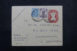 INDE - Entier Postal + Compléments De Madura Pour Le Danemark En 1952 - L 63963 - Briefe