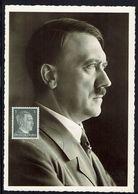 Allemagne - Carte Maximum Portrait D'Adolf Hitler - Photo-Hoffmann Munchen - Dimension 140 X 100 - TB - - Brieven En Documenten