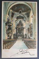 Schweiz 1904, Relief-Postkarte Kirche SCHWYZ Gelaufen - SZ Schwyz