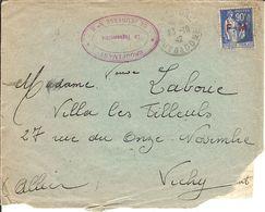 L Expédiée Du Chantier De Jeunesse N° 5 - De PONTGIBAUD (P De D) 23/10/1942 6 Défauts Visibles Sur Le Scan - Guerre De 1939-45