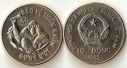 """Vietnam 10 Dong """"Orangutan""""-1987 - UNC - Vietnam"""