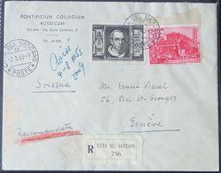 Vaticano, Raccomandata Per La Svizzera Del 1953 -CU36 - Lettres & Documents