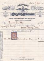 """Fattura Comm. Con Marca Da Bollo  -  Anno 1912  -  Wien , Fabbrica Di Carta """" Carl Joh. Merckens """" - Österreich"""