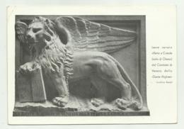 LEONE VENETO OFFERTO A CAISOLE ( CHERSO ) DAL COMITATO DI VENEZIA DELLA DANTE ALIGHIERI 1935  VIAGGIATA  FG - Venezia (Venedig)