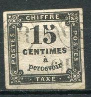 "FRANCE TIMBRE-TAXE N°3B AVEC OBLITERATIONS "" O R "" SIGNE CALVES - 1859-1955 Gebraucht"