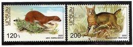 Armenia (Artsakh) 2020 . Fauna. Least Weasel And Jungle Cat . 2v. - Armenia