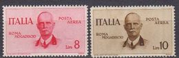 Italie 1934 Poste Aerienne Yvert 82 / 83 * Neufs Avec Charniere. Inauguration De La Ligne Rome Mogadiscro - 1900-44 Victor Emmanuel III.