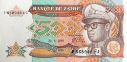 Zaire 500 Zaires, P-34a (24.6.1989) - UNC - Zaire