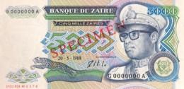 Zaire 5.000 Zaires, P-37s (20.5.1988) - UNC - SPECIMEN - Zaire
