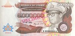 Zaire 5.000.000 Zaires, P-46s (1.10.1992) - UNC - SPECIMEN - Zaire