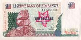 Zimbabwe 10 Dollars, P-6 (1997) - Extremely Fine - Simbabwe