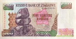 Zimbabwe 500 Dollars, P-11 (2001) - UNC - AA Serial Number - Simbabwe