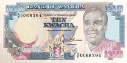 Zambia 10 Kwacha, P-31b (1989) - UNC - Signature 9 - Zambie