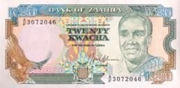 Zambia 20 Kwacha, P-32b (1989) - UNC - Signature 9 - Zambie
