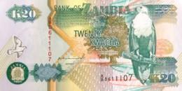 Zambia 20 Kwacha, P-36a (1992) - UNC - Signature 10 - Zambie