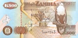 Zambia 500 Kwacha, P-39a (1992) - UNC - Signature 10 - Zambie