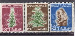 Italie 1950 Yvert 567 / 569 ** Neufs Sans Charniere. Conference Europeenne Du Tabac Rome. - 1946-60: Neufs