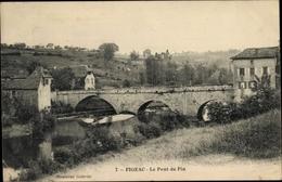 Cp Figeac Lot, Le Pont Du Pin, Brücke Und Flusspartie, Gebäude - Francia
