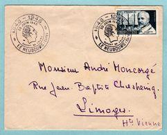 Timbre Seul Sur Lettre De 1948 -  Calmette YT 814 - Cachet Temporaire Le Neubourg Dupont De L'Eure - Marcophilie (Lettres)