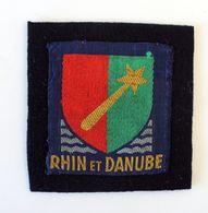 Patch 1ere Armée Française, De Lattre, RHIN Et DANUBE, Insigne Tissu - Ecussons Tissu