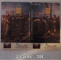 CUBA - TELEBARNA 2001 - 2 CARDS - Cuba