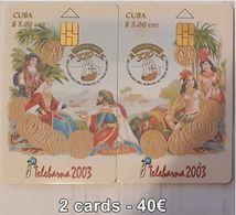 CUBA - TELEBARNA 2003 - 2 CARDS - Cuba