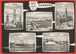 Hamburg, Rathaus, Jungfernstieg, MS Hanseatic, Seebäderschiff Bunte Kuh, Bismarckdenkmal, Michel - Sin Clasificación