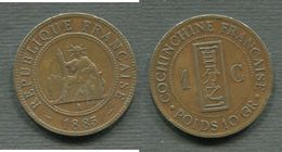 COCHINCHINE - 1 CENT. 1885 - Colonies