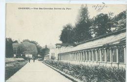 Enghien Vue Des Grandes Serres Du Parc ( Passed By Censor ) - Enghien - Edingen