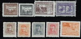 EAST CHINA 1949 9 STAMPS MINT - North-Eastern 1946-48